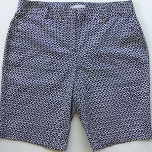 DANA BUCHMAN 6 Bermuda Shorts-Bl & W Print-NWOT